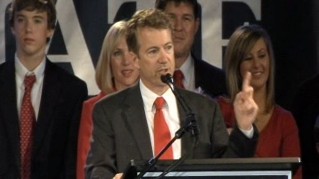 VIDEO: Kentucky's Rand Paul scores first major win of the night for the Tea Party.