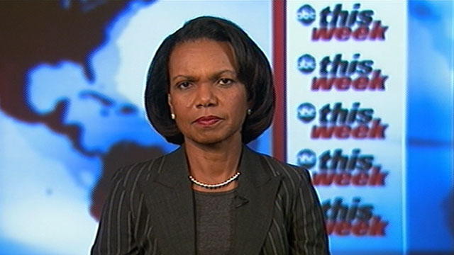 PHOTO:Former Secretary of State Condoleezza Rice is interviewed on &quot;This Week.&quot;