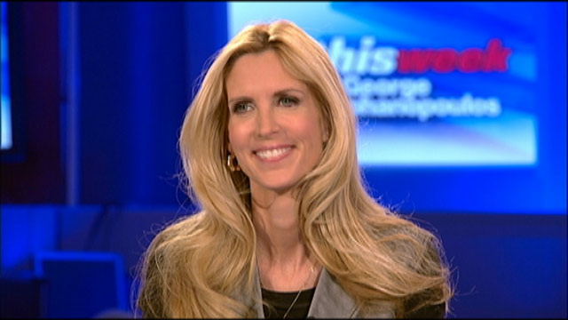 "PHOTO: Conservative Commentator Ann Coulter on ""This Week"""