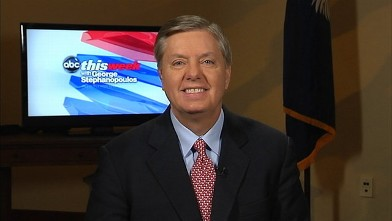 "PHOTO: Sen. Lindsey Graham (R - SC) on ""This Week"""