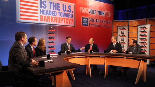 "PHOTO: Sunday's ""This Week"" panel, in partnership with the University of Virginia's Miller Center, tackles the question ""Is the U.S. Headed Toward Bankruptcy?"""