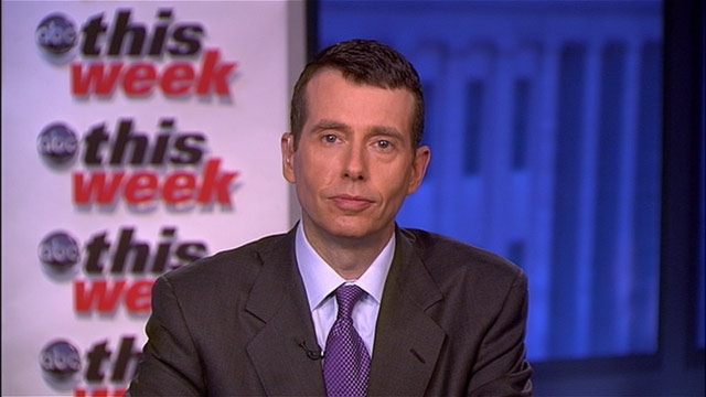 "PHOTO: White House Senior Adviser David Plouffe on ""This Week."""