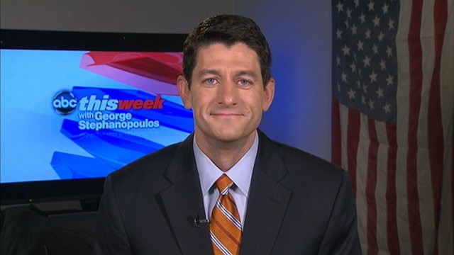 PHOTO: Chairman of the House Budget Committee, Rep. Paul Ryan (WI), on &quot;This Week&quot;