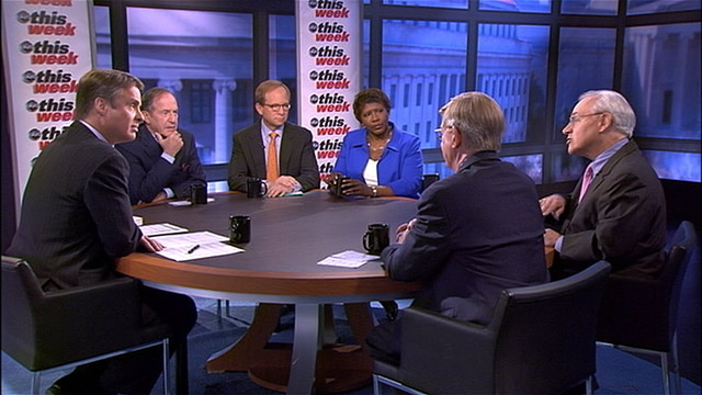 PHOTO: The Roundtable debates the recent June jobs report on This Week Sunday.