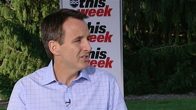 "PHOTO: Gov. Tim Pawlenty announces on ABC's ""This Week"" that he will discontinue his run for president."