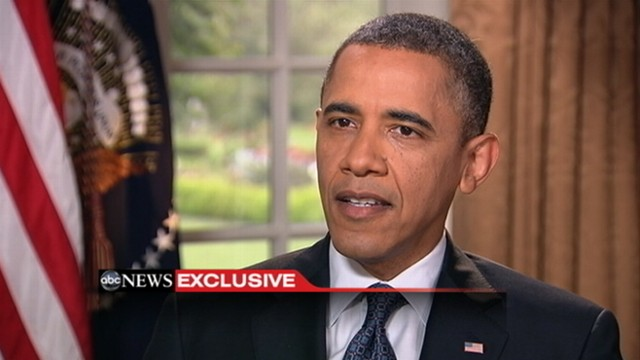 VIDEO: President says his position on marriage has evolved.