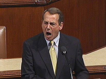 VIDEO: Rep. John Boehner blasts the legislation shortly before its passage.