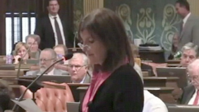 "VIDEO: Rep. Lisa Brown was barred from speaking in state House for saying ""vagina."""