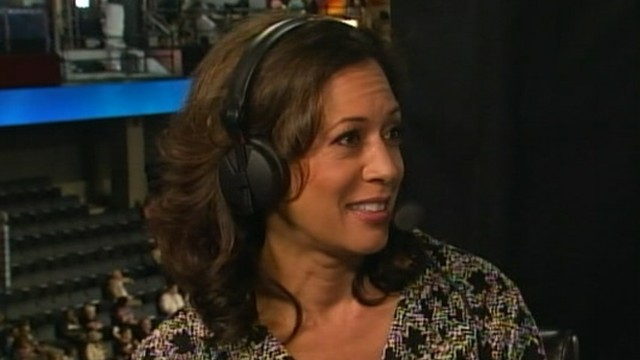 VIDEO: Kamala Harris says she doesnt think about pundits desire for her to run for president.