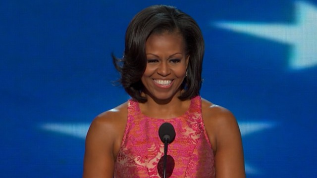 VIDEO: First lady excites delegates with a speech about the president's values at the DNC.