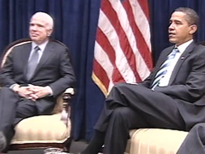 Picture of Sen. McCain and president-elect Obama in Chicago.