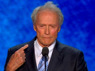 Watch: Clint Eastwood's Throat-Slicing RNC Moment