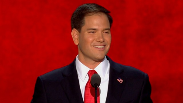 VIDEO: Florida senator draws on his upbringing by his Cuban parents in a well-received speech at RNC.