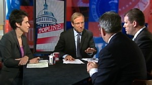 "Video: Dueling Spokesman DNCs Brad Woodhouse and RNCs Doug Heye on ""Top Line."""