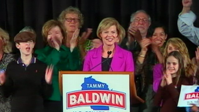 VIDEO: The 50-year-old Democrat defeated Tommy Thompson in Wisconsin race.