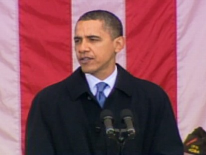 Video of President Obama at Arlington Cemetery telling Veterans American will stand by them.