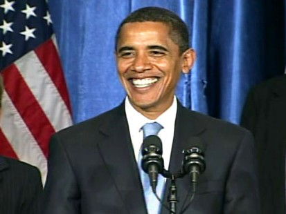pic of barack obama during his first press conference as president-elect