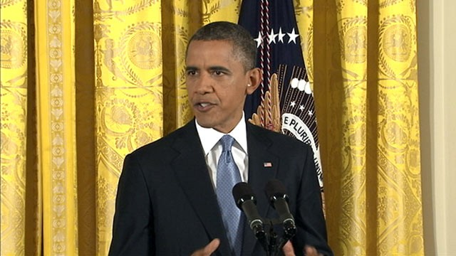 PHOTO: President Barack Obama speaks at a press conference at the White House, Nov. 14, 2012.