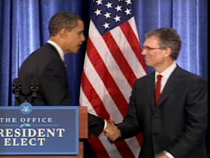 pic of barack obama and tom daschle