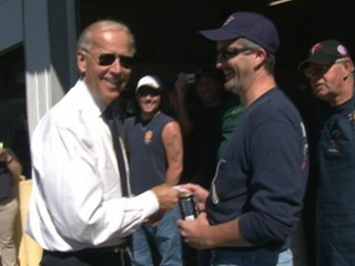 Watch: Joe Biden Invites Firefighter to White House for Beer