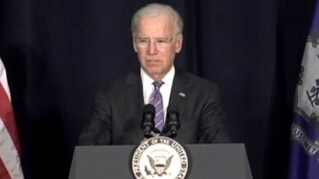 VIDEO: Vice President Joe Biden speaks at forum that included parents of Sandy Hook shooting victims.