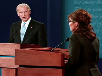 pic of joe biden and sarah palin at vp debate