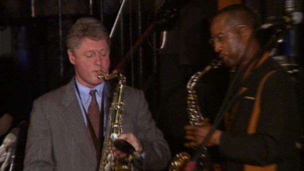 VIDEO: The presidential candidate showed off his musical chops along the campaign trail in 1992.
