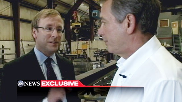 PHOTO: John Boehner and Jonathan Karl