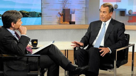 abc boehner stephanopoulos nt 130611 wblog John Boehner Knocks Obama IRS Targeting Defense as Inconceivable