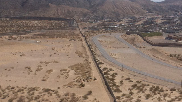 PHOTO: The Border wall that separates the city of El Paso, Texas from border city Juarez in Mexico, Feb. 26, 2011.