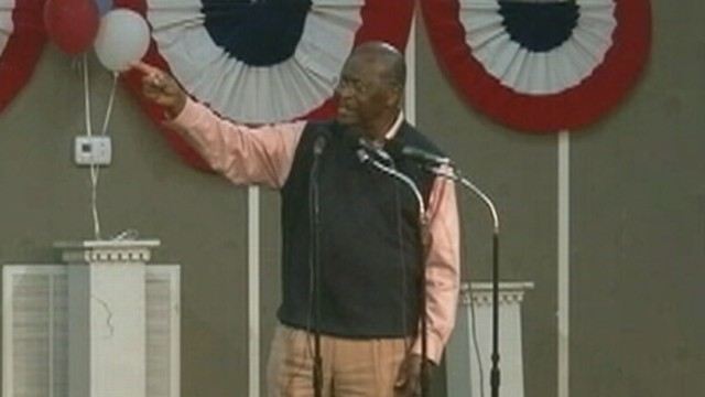 VIDEO: Herman Cain sings gospel in Waverly, Tennessee.
