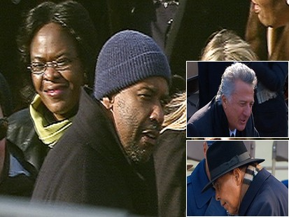 Video: Celebrities arrive for inauguration ceremony.