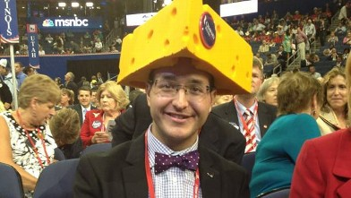 PHOTO: Cheesehead for Romney at Republican National Convention.
