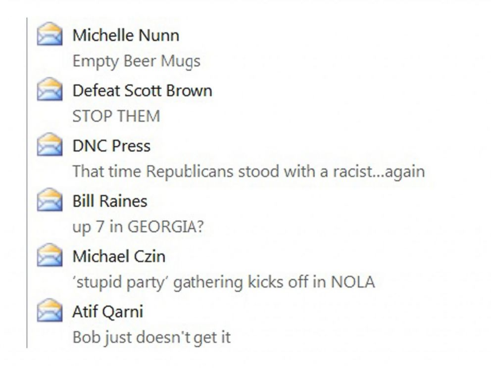 PHOTO: As the midterms approach, campaigns and groups email subject lines are just getting weirder.
