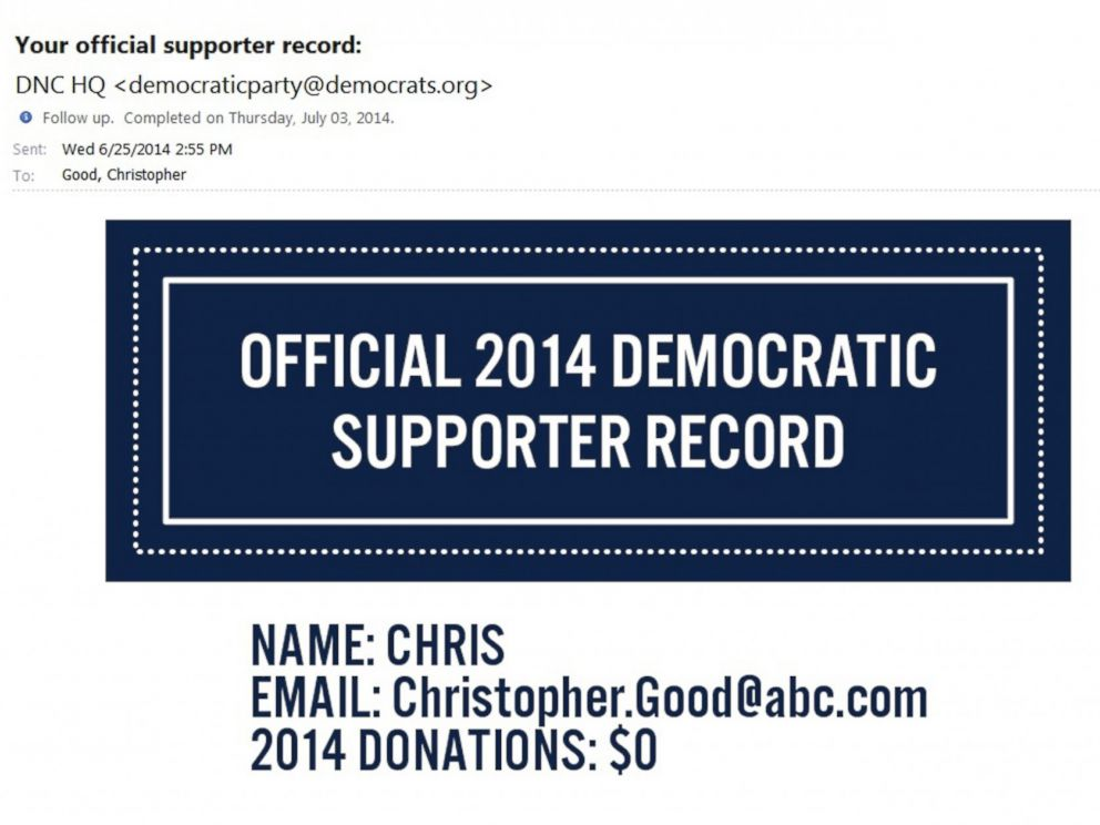 PHOTO: The Democratic Party prods donation-derelict supporters (and reporters who subscribe) with emails that look like invoices