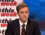 "PHOTO: Facebook Co-Founder and ""The New Republic"" owner and publisher Chris Hughes on This Week"