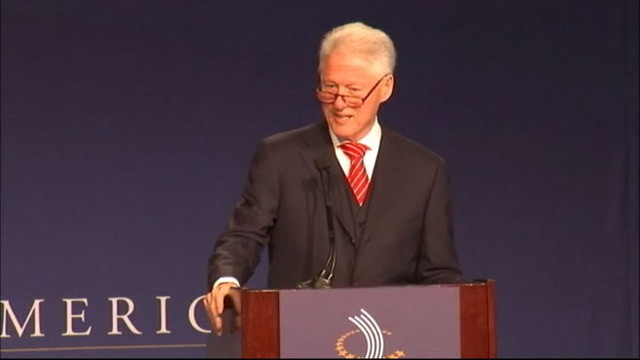 VIDEO: Former president hosts conference in Chicago to reduce America's job deficit.