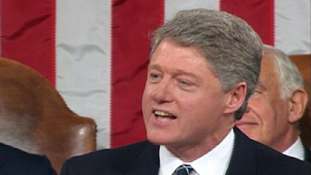 VIDEO: State of the Union 1994: Clinton pushes for universal health care coverage.