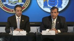 VIDEO: Governors Andrew Cuomo and Chris Christie hold press conference about Ebola procedures.