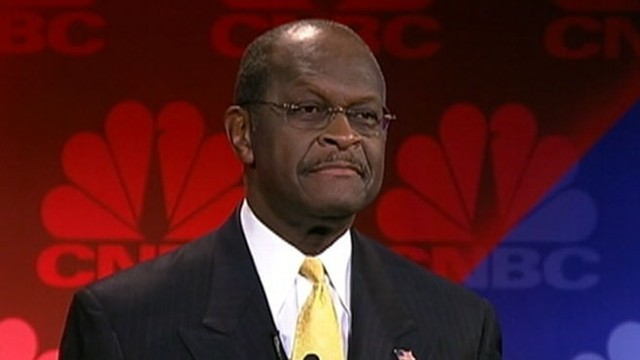 "VIDEO: Cain refers to harassment allegations as ""character assassination."""