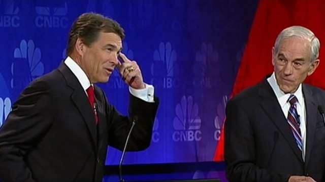 VIDEO: Rick Perry fails to name three government agencies he would cut as president.