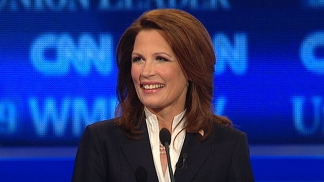 VIDEO: At CNN GOP debate Rep. Michele Bachmann says she has filed paper work to run.