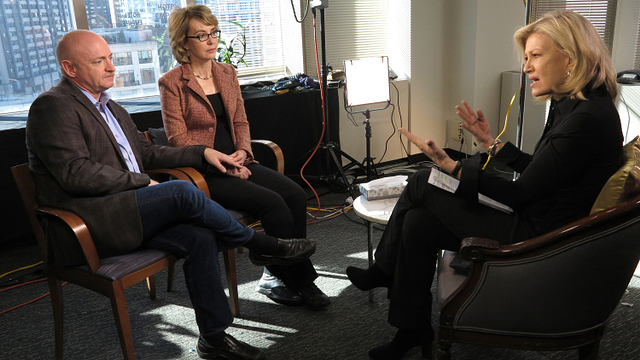 PHOTO: Diane Sawyer interviews Gabby Giffords and Mark Kelly, Jan