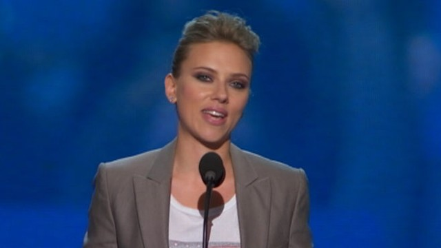 VIDEO: Scarlett Johansson speaks at DNC.