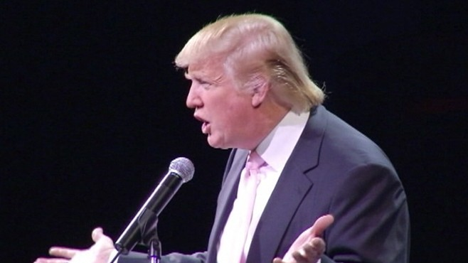VIDEO: Donald Trump curses during reception hosted by two Republican womens groups.