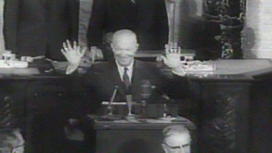"""VIDEO: State of the Union 1960: """"We live in a divided world of uneasy equilibrium."""""""