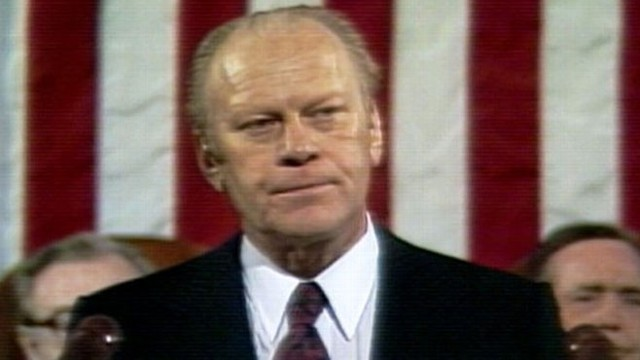 VIDEO: State of the Union 1975: President Ford on unemployment and the federal deficit.
