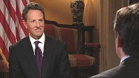 PHOTO Secretary of the Treasury, Timothy Geithner is shown during an interview.