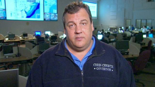 PHOTO: N.J. Governor Chris Christie speaks on Good Morning America, Oct. 30, 2012.