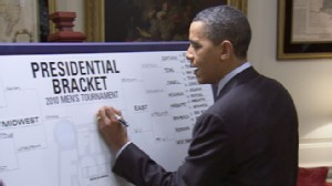 VIDEO: Karen Travers with a look at President Obamas 2010 NCAA tournament picks.